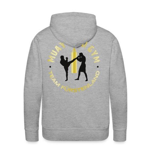 Kapuzenpullover grau/gold - Männer Premium Hoodie