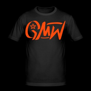 GMW Herren Slim Fit T-Shirt Neonorange - Männer Slim Fit T-Shirt