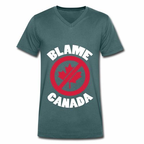 Blame Canada - Ekologisk T-shirt med V-ringning herr från Stanley & Stella