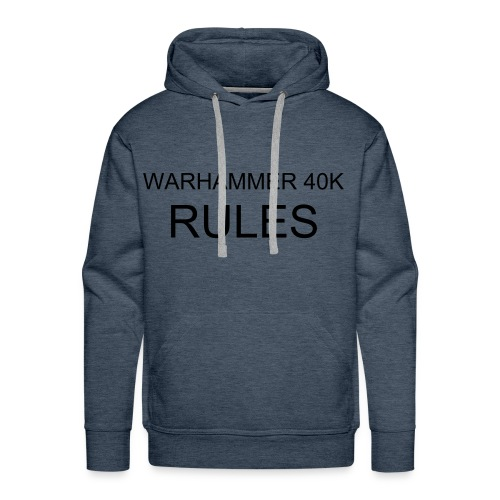 HOODED TOP WARHAMMER 40K RULES - Men's Premium Hoodie