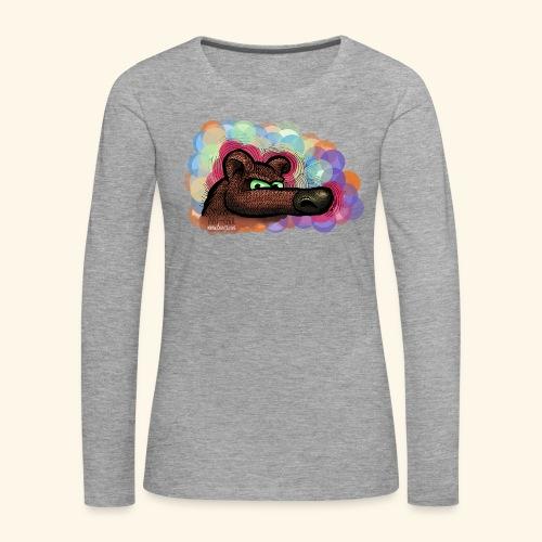bubble bear for powerful females - Frauen Premium Langarmshirt