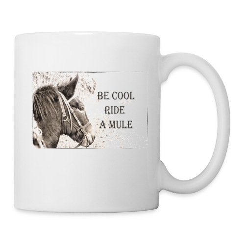 Tasse Mule Riding weiß - Tasse