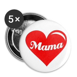 mama heart badge - Buttons small 25 mm