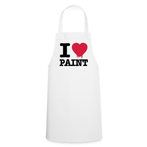 White i love paint  Aprons - Cooking Apron