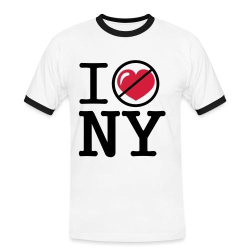i heart_notlove_ny 2 - Mannen contrastshirt
