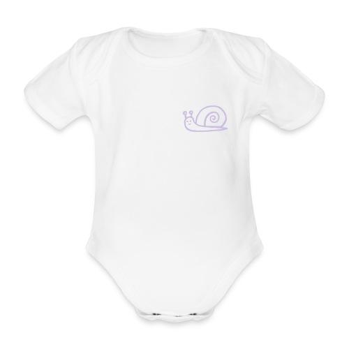 Snail - Baby bio-rompertje met korte mouwen