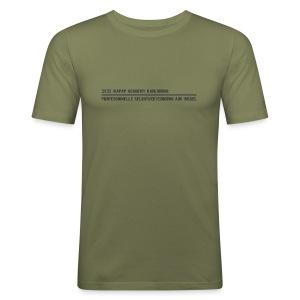 Herren Slim Fit T-Shirt KAPAP ACADEMY Karlsruhe 2018 - Männer Slim Fit T-Shirt