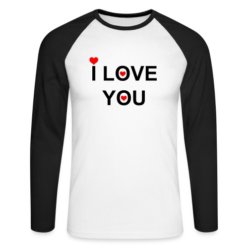i love you - Mannen baseballshirt lange mouw