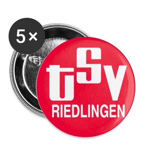 Anstecker klein 25 mm TSV logo rot - Buttons klein 25 mm (5er Pack)
