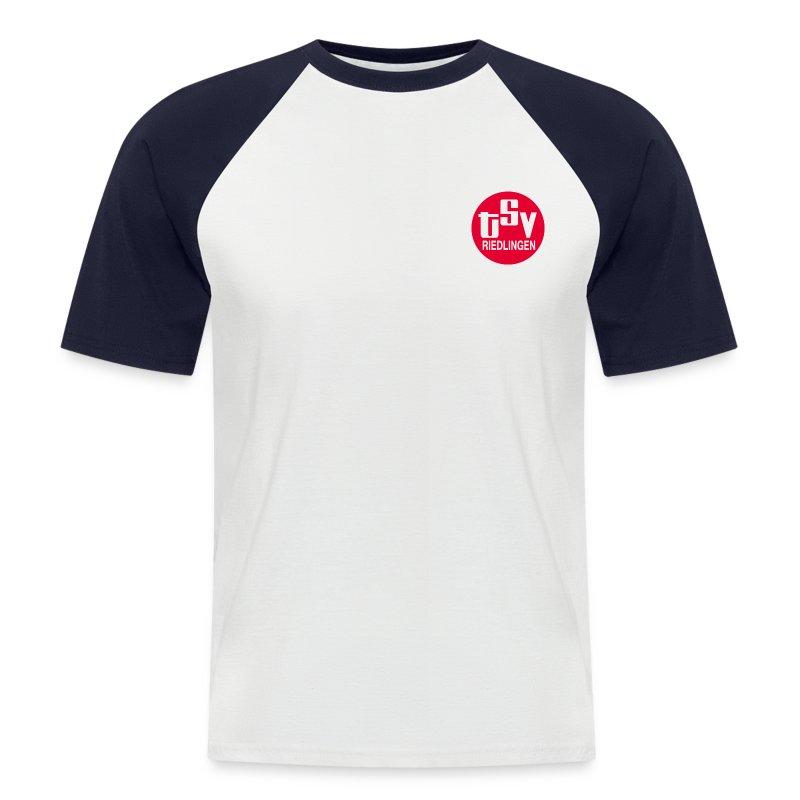 Männer kurz Baseball-Shirt TSV  logo rot - Männer Baseball-T-Shirt