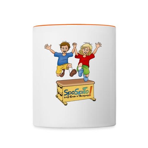 SpoSpiTo-Tasse für Kinder - Tasse zweifarbig