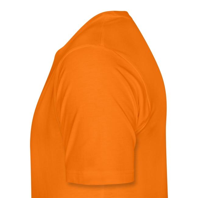 Het is Majesteit! Koningsdag oranje T-shirt