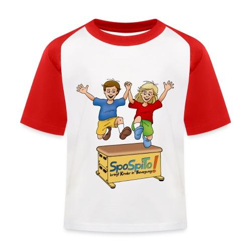 SpoSpiTo-T-Shirt für Kinder - Kinder Baseball T-Shirt