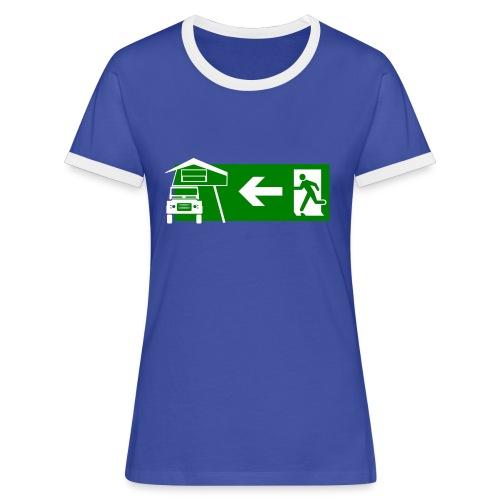 Exit Dachzelt - Frauen Kontrast-T-Shirt