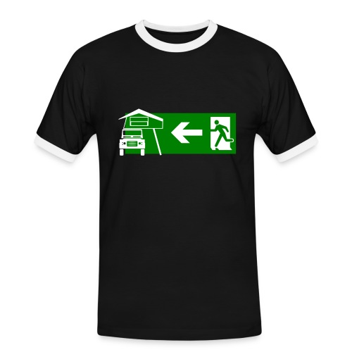 Exit Dachzelt - Männer Kontrast-T-Shirt