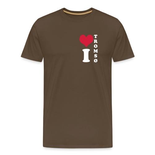 i Love Tromsø Brun - Premium T-skjorte for menn