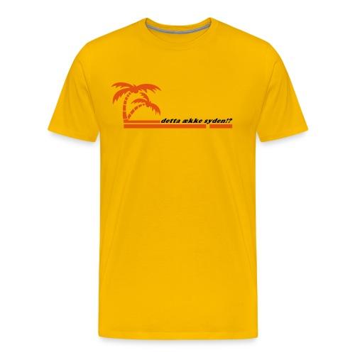 Detta ekke syden (Gul) - Premium T-skjorte for menn