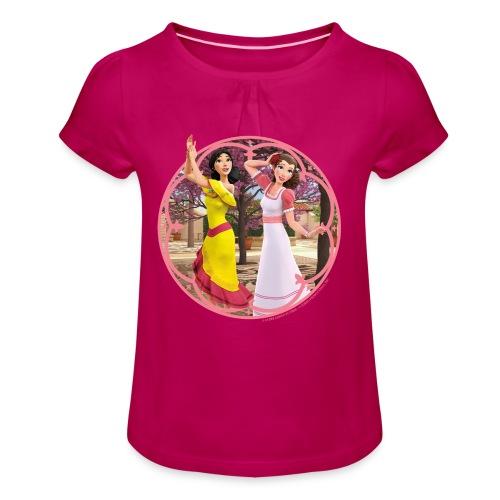 Zorro Les Chroniques Inès Et Carmen Dansent - Mädchen-T-Shirt mit Raffungen
