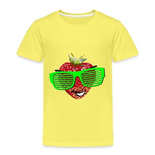 Erdbeere Sonnenbrille Kind frech Früchtchen Obst - Kinder Premium T-Shirt