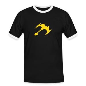Mannen contrastshirt - een leuk u.f.o shirt
