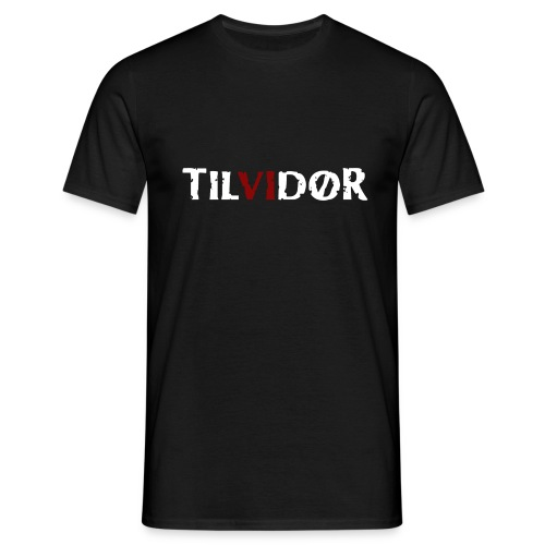 TILVIDØR Basic Tee 2 color logo - Herre-T-shirt