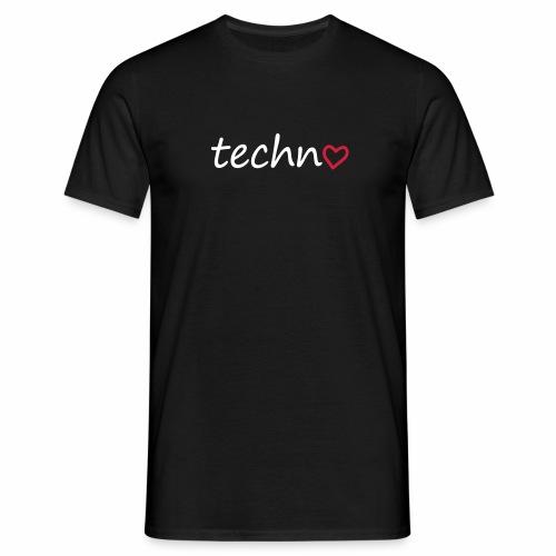 Techno mit Herz - T-Shirt - Männer T-Shirt