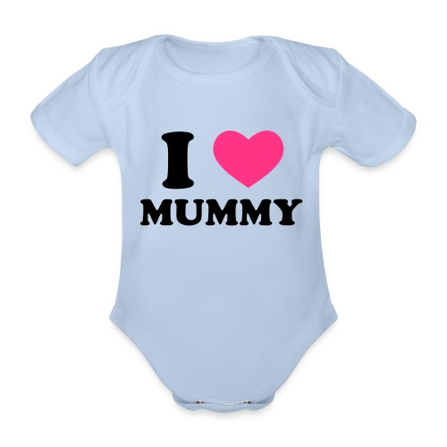 i love mummy baby one piece suit - Organic Short-sleeved Baby Bodysuit