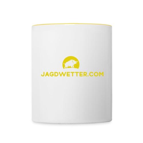 Jagdwetter Tasse - Tasse zweifarbig