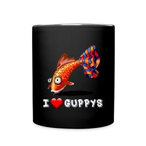 I Love Guppys Tasse - Tasse einfarbig