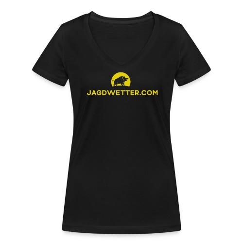 Jagdwetter.com T-Shirt - Frauen Bio-T-Shirt mit V-Ausschnitt von Stanley & Stella