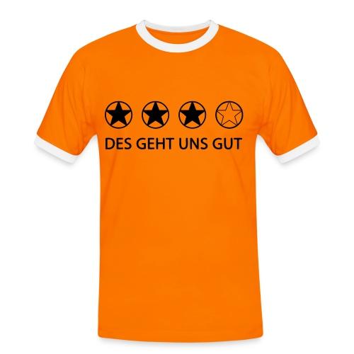DES GEHT UNS GUT - Männer Kontrast-T-Shirt