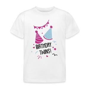Birthday-Twins: Couple  - Kinder T-Shirt