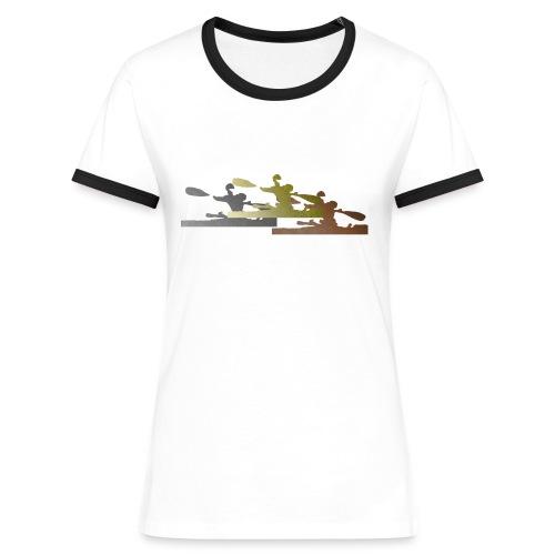 Camiseta Vintage Mujer Podium - Camiseta contraste mujer