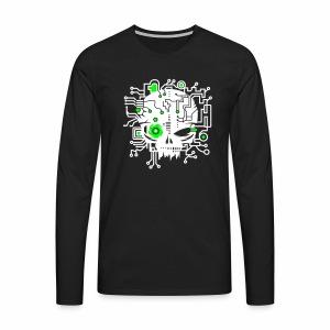 Digital Skull V2 - langarm Shirt - Männer Premium Langarmshirt