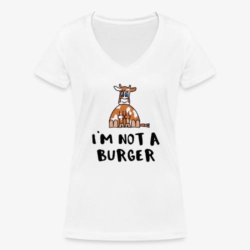 Frauen Bio-T-Shirt mit V-Ausschnitt von Stanley & Stella I´m not a Burger - Frauen Bio-T-Shirt mit V-Ausschnitt von Stanley & Stella