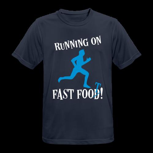 Sport Laufen Sprüche - Fast Food Läufer T-Shirts - Männer T-Shirt atmungsaktiv