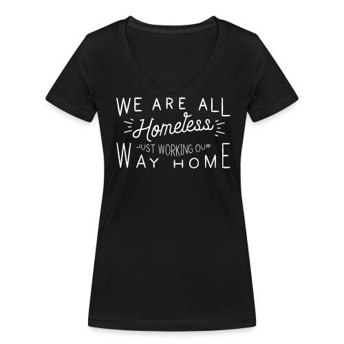 Dames t-shirt v-hals bio - Vrouwen bio T-shirt met V-hals van Stanley & Stella