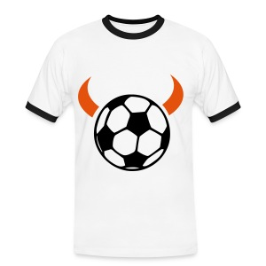 Devil Ball T'shirt (white) - Men's Ringer Shirt
