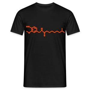 Chemical formula - chili - Men's T-Shirt