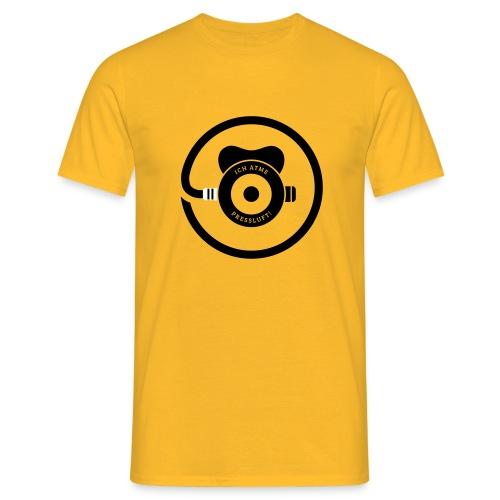 ICH ATME PRESSLUFT! (Yellow) - Männer T-Shirt