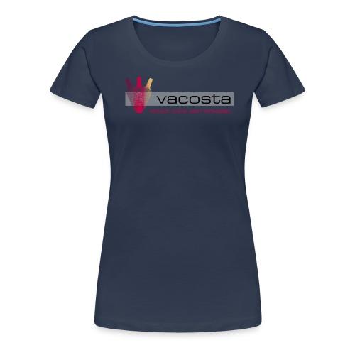 vacosta.com Damen T-Shirt Logo horizontal - Frauen Premium T-Shirt