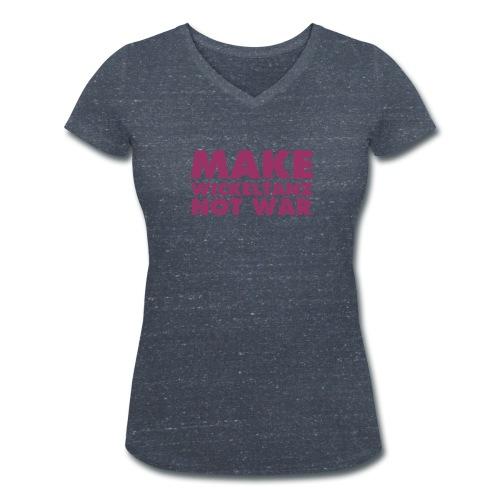MAKE WICKELTANZ NOT WAR - Frauen Bio-T-Shirt mit V-Ausschnitt von Stanley & Stella