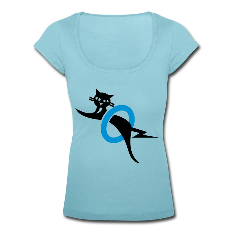 Black cat - Women's Scoop Neck T-Shirt