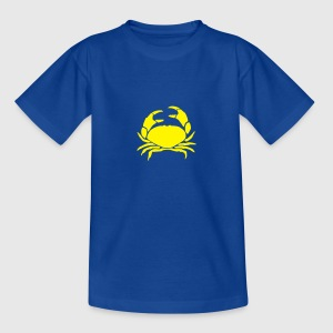 Royalblau krebs_1c Kinder T-Shirts - Teenager T-Shirt
