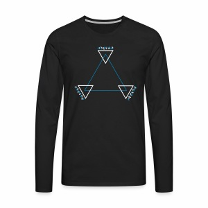 Alien Triangle - langarm Shirt - Männer Premium Langarmshirt