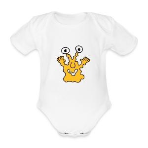 Monster-Body - Baby Bio-Kurzarm-Body