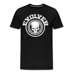 Evolver T-shirt Round Skull - Male black - Mannen Premium T-shirt