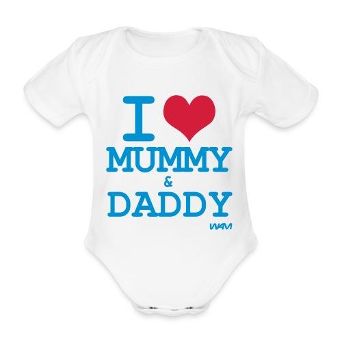 I love - Ekologisk kortärmad babybody