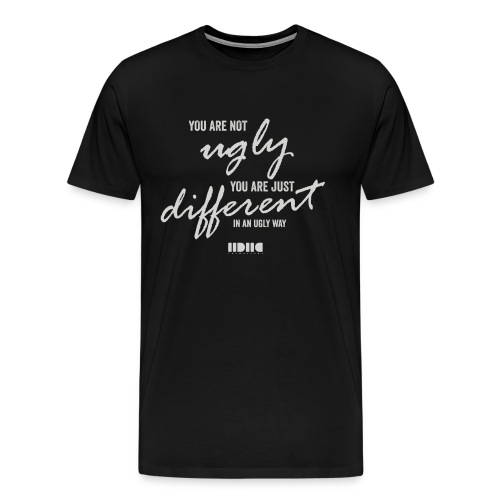 Not ugly, just different - Premium-T-shirt herr