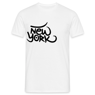 White New York graffiti Men's T-Shirts